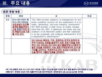 품질경영 개전표준 핵심내용(ISO 9001:2008) #14
