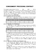 (영문) 위탁가공 계약서 CONSIGNMENT PROCESSING CONTRACT