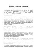 (영문) 컨설팅 계약서(Business Consultant Agreement 2)