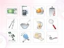 파워포인트 클립아트 전자렌즈, 커피포터, 전구, 청소도구