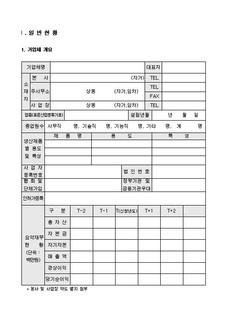 자금조달용 사업계획서 표준(기본서식) #4