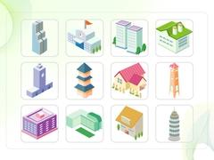 파워포인트 클립아트 고층빌딩, 전망대, 학교, 교회