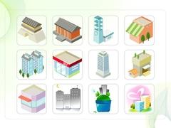 파워포인트 클립아트 동대문, 주차장, 건물, 풍차