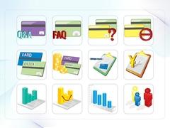 파워포인트 클립아트 신용카드, 차트, 주가, 지도