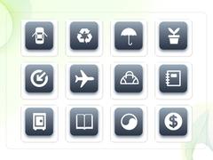 파워포인트 클립아트 자동차, 우산, 비행기, 수첩, 자동차
