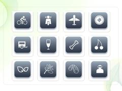 파워포인트 클립아트 자전거, 비행기, 나무줄기, 빵