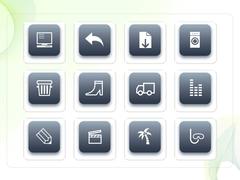 파워포인트 클립아트 컴퓨터, 구두, 야자수, 포도, 학사모