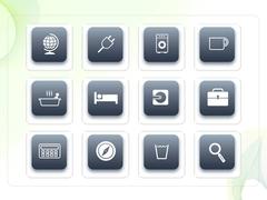 파워포인트 클립아트 콘선트, 전자계산기, 수첩, 방전