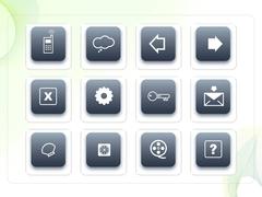파워포인트 클립아트 핸드폰, 구름, 열쇠, 마이크