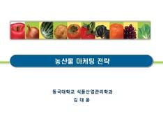 농산물 마케팅 전략 보고서