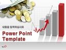 금융 그래프(경제) 배경 피피티 템플릿