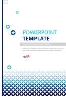 블루 그래픽 배경 디자인 PPT 템플릿