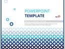 블루 그래픽 도형 디자인 피피티 템플릿