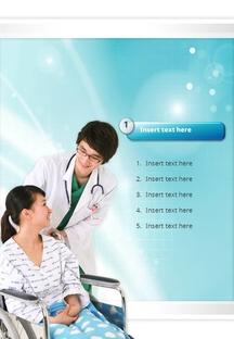 의사와 환자(의료) 파워포인트 배경 템플릿 #3