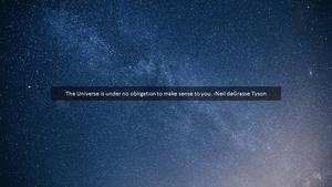 우주(Universe) 파워포인트 테마