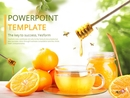 꿀오렌지차 (음료) 파워포인트 표지 배경화면