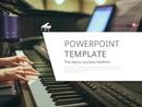 피아노와 악보 (예술) PPT 배경템플릿