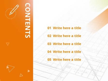 설계도면과 펜 (건축) 피피티 배경