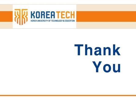 (리포트 표지) 한국기술교육대학교
