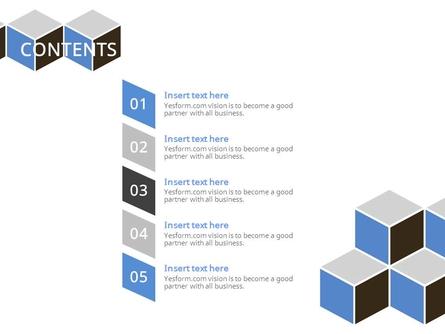 (패턴) 그레이,블루 육면체