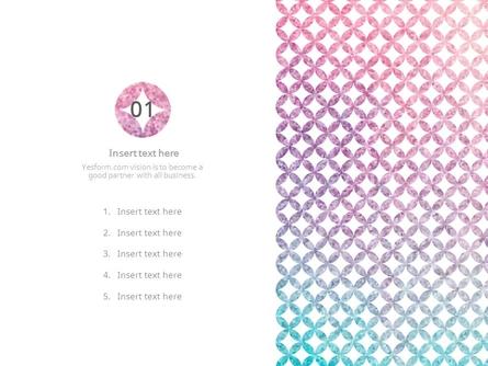 (패턴) 핑크,블루 그라데이션 땡땡이