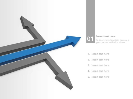 (패턴) 세갈래로 뻗어지는 화살표