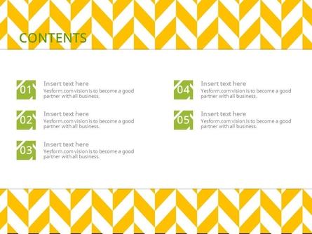 (패턴) 노란색 지그재그 연두색포인트