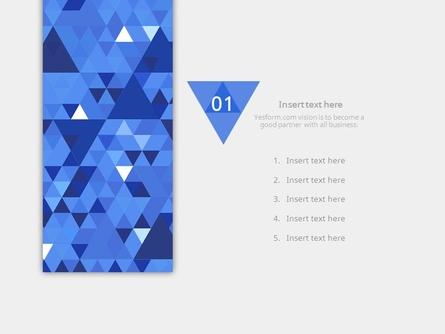 (패턴) 딥블루 반짝이는 삼각형