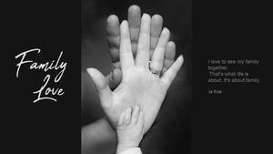 가족애(Family Love) 파워포인트 테마