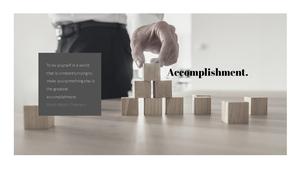 목표달성(Accomplishment)  테마 슬라이드