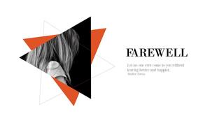 이별(Farewell) 테마 PPT Slides