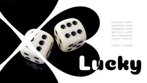 행운(Lucky) 테마 슬라이드