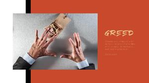 탐욕(Greed) 테마 슬라이드