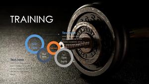 트레이닝(Training) 파워포인트 테마