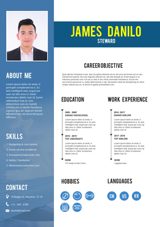 영문 이력서 (Steward(Travel service) resume) 상세보기