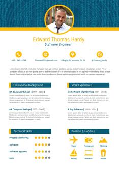 영문 이력서 (Software Engineer(IT/Programmer) resume)