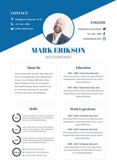 영문 이력서 (Accountant(Financial business) resume)
