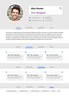 영문 이력서 (Web Designer(IT/Design) resume) 상세보기
