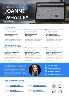 영문 이력서 (Digital Marketing Manager(Marketing) resume)