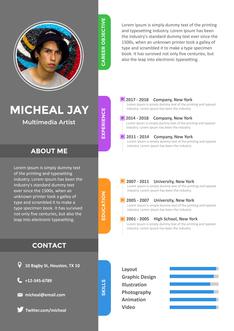 영문 이력서 (Multimedia Artist(Artist) resume)