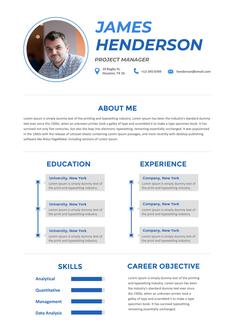 영문 이력서 (Project Manager(PM) resume)
