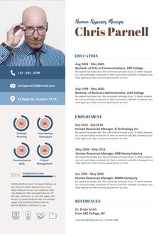 영문 이력서 (Human Resources Manager resume)