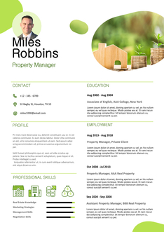 영문 이력서 (Property Manager resume)