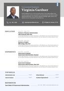 영문 이력서 (Government Employee resume