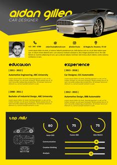 영문 이력서 (Car Designer(Design) resume)