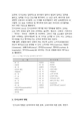 호텔의 인사고과제도 page 2