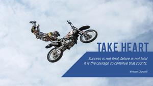 용기(Courage) 파워포인트 테마