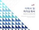 파워포인트 이력서 및 자기소개서(삼각형/영문)
