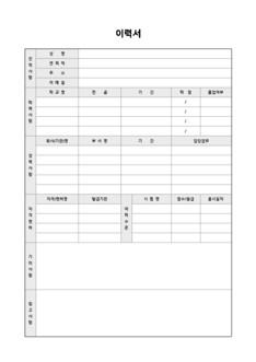 이력서 및 자기소개서(기타사항, 참고사항 서술형)