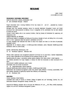영문 이력서(Distribution Manager/유통업)